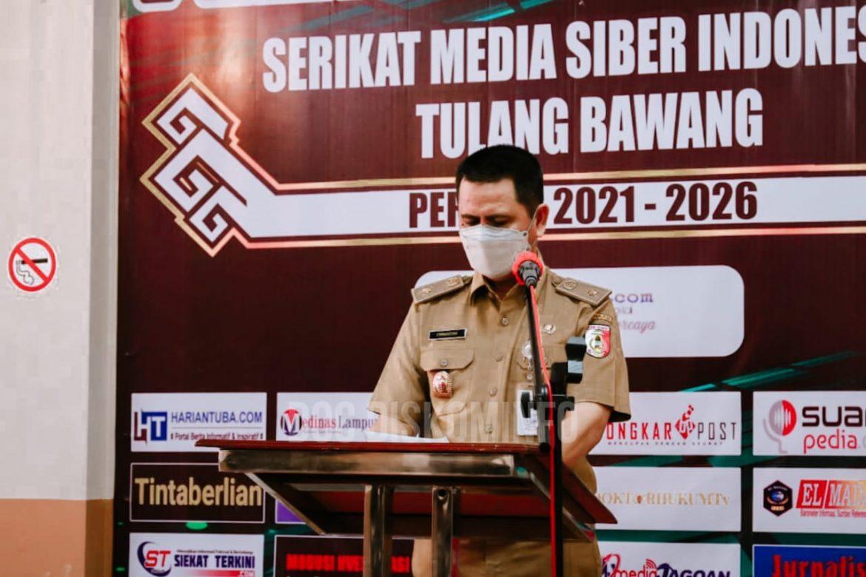 Bupati Dr. Hj. Winarti SE., MH., Diwakili Staf Ahli Bidang Ekonomi Hadiri Pelantikan Pengurus SMSI Kab. Tuba