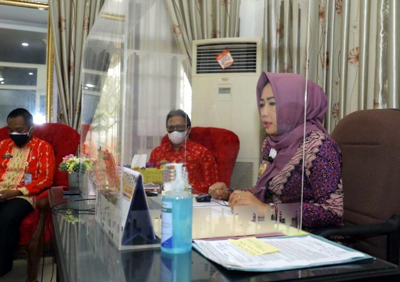 Secara Virtual Bupati Tuba  Launching Program Kreatif Mandiri BMW Di Kecamatan Gedung AJi Dan Rawajitu Timur