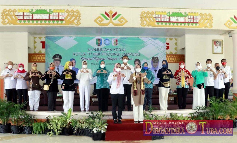 Bupati Tuba Dr. hj. Winarti S.E. M.H. Hadiri Kunker Ketua TP PKK Provinsi Lampung