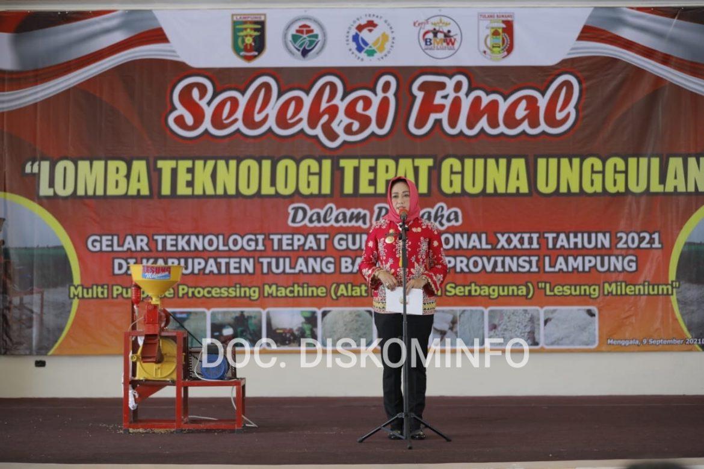 Bupati Tuba Hadiri Acara Seleksi Final Lomba Teknologi Tepat Guna Nasional XXII